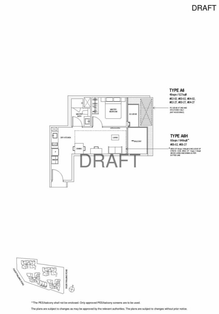 Verandah Residence - Floor Plan - 1 Bedroom A6