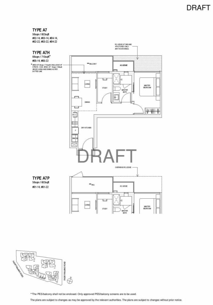 Verandah Residence - Floor Plan - 1 Bedroom A7