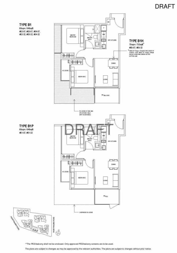 Verandah Residence - Floor Plan - 2 Bedroom B1