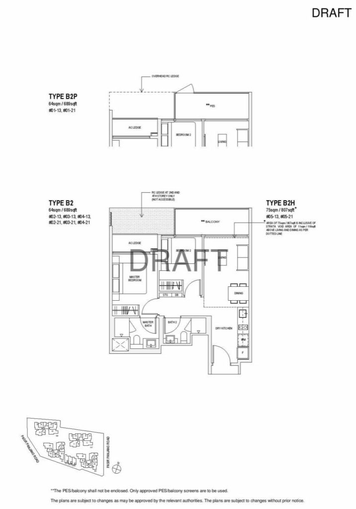 Verandah Residence - Floor Plan - 2 Bedroom B2
